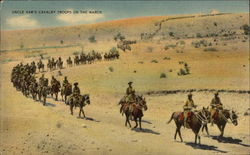 Uncle Sam's Cavalry Troops on the March