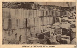 View of a Carthage Stone Quarry
