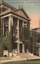 University of Missouri - Main Entrance to Academic Hall Postcard