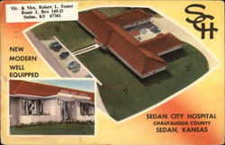 Sedan City Hospital, Chautauqua County Postcard