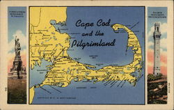 Cape Cod and the Pilgrimland Postcard
