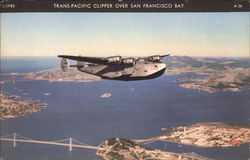 Trans-Pacific Clipper over San Francisco Bay