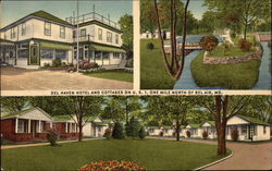 Del Haven Hotel and Cottages on U.S. 1 Postcard
