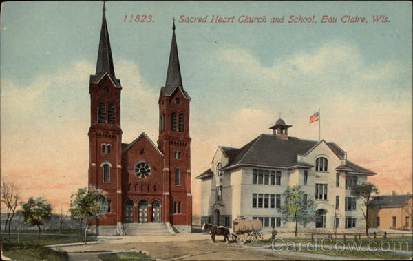 Sacred Heart Church and School Eau Claire Wisconsin