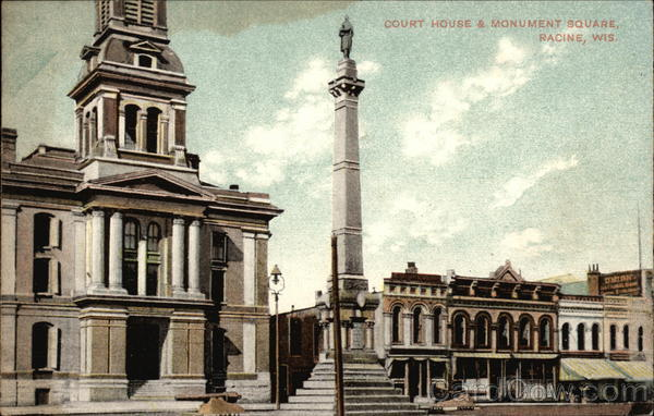 Court House & Monument Square Racine Wisconsin