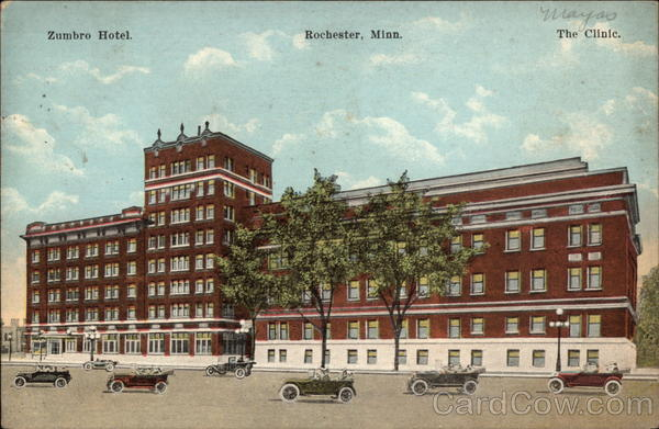 View of Zumbro Hotel Rochester Minnesota