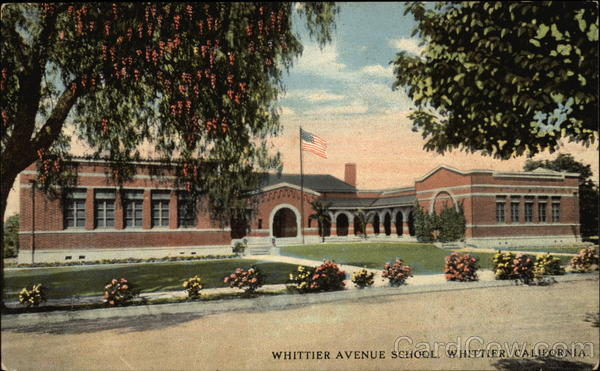 Whittier Avenue School California