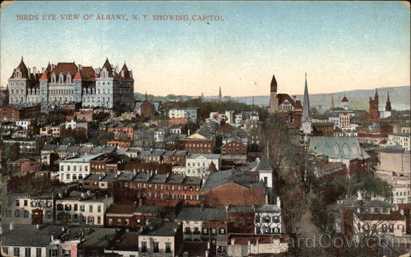 Bird's Eye View Showing Capitol Albany New York
