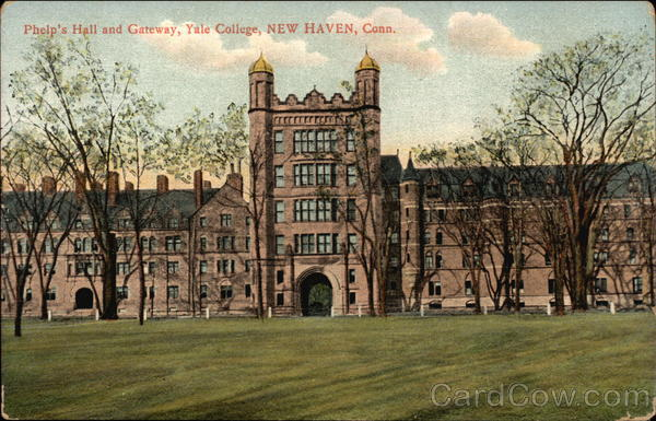 Phelp's Hall and Gateway, Yale College New Haven Connecticut