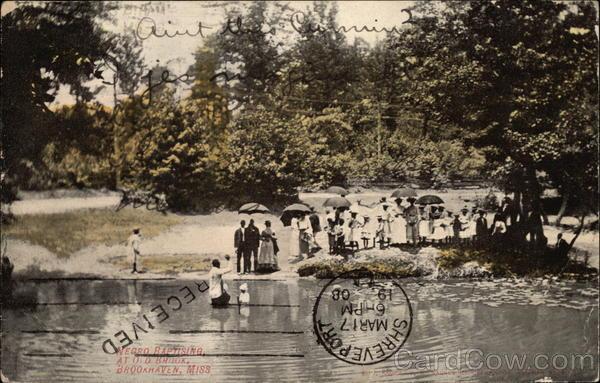Baptism at Old Brook Brookhaven Mississippi
