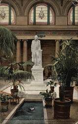 Statue of Thomas Jefferson in Lobby of Jefferson Hotel