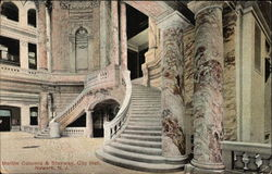 Marble columns & Stairway, City Hall