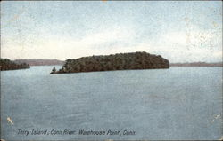 Terry Island, Connecticut River Postcard