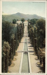 Main Axis of Garden from Casino Postcard