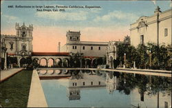 Reflections in large Lagoon, Panama-California Exposition