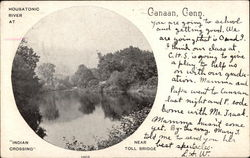 Housatonic River at Indian Crossing Postcard