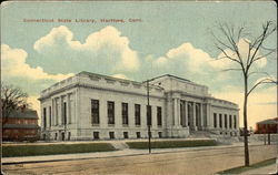 Connecticut State Library Postcard