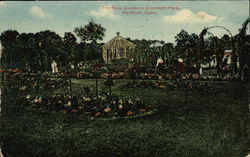 The Rose Garden in Elizabeth Park Postcard