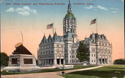 State Capitol and Petersburg Express Postcard