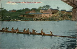 Harvard Varsity Crew at the finish of the race
