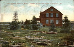The Highest Point - Summit House and Tower on Greylock Mt Postcard