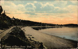 A Glimpse of Puget Sound Postcard