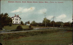 Resident District, North Market Street Postcard