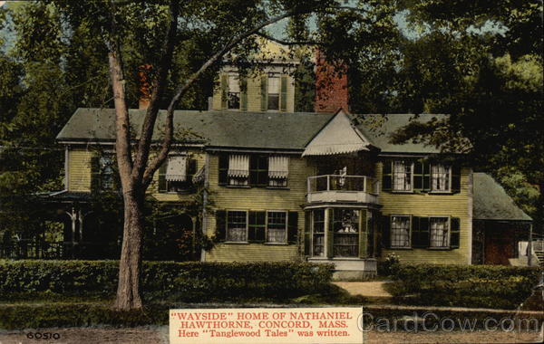 Wayside Home of Nathaniel Hawthorne Concord Massachusetts