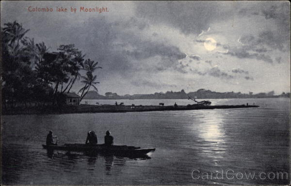 Colombo Lake by Moonlight Sri Lanka Southeast Asia
