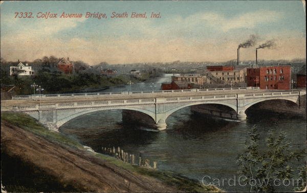 Colfax Avenue Bridge South Bend Indiana