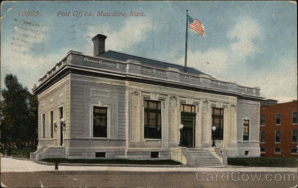 Post Office Muscatine Iowa