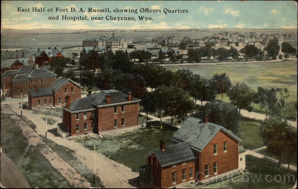 East Half of Fort D. A. Russell, showing Officers Quarters and Hospital, near Cheyenne Wyoming