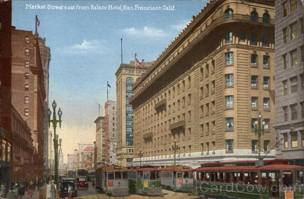 Market Street East From Palace Hotel San Francisco California