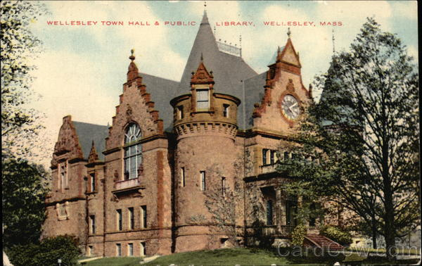 Wellesley Town Hall & Public Library Massachusetts
