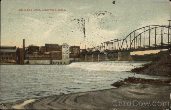 Mills and Dam Lawrence Kansas