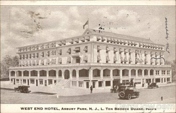 West End Hotel Asbury Park New Jersey