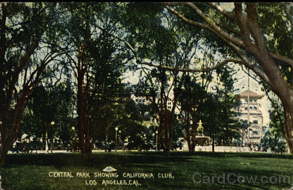 Central Park Showing California Club Los Angeles