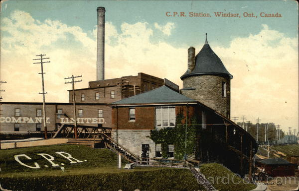 C.P.R. Station Windsor Canada Ontario