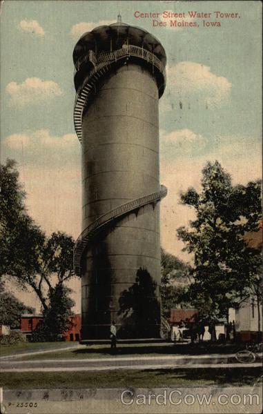 Center Street Water Tower Des Moines Iowa