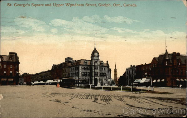 St. George's Square and Upper Wyndham Street Guelph Canada