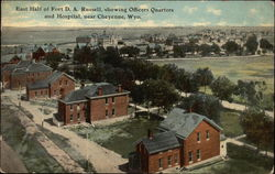 East Half of Fort D. A. Russell, showing Officers Quarters and Hospital, near Cheyenne