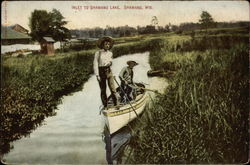 Inlet to Shawano Lake Postcard