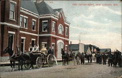 Fire Department Postcard