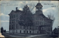 Adams High School Postcard
