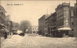 Main Street in Winter Postcard