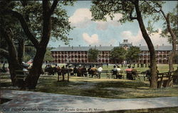 Glimpse of Parade Ground, Ft. Monroe Postcard