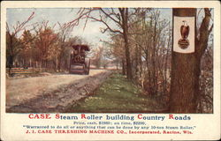 Case Steam Roller Building Country Roads