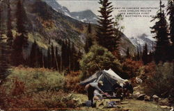 Camp in Cascade Mountains