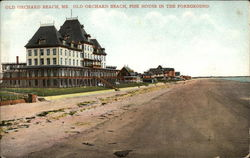 Old Orchard Beach, Fisk House in the Foreground