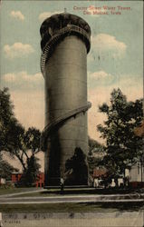 Center Street Water Tower Postcard